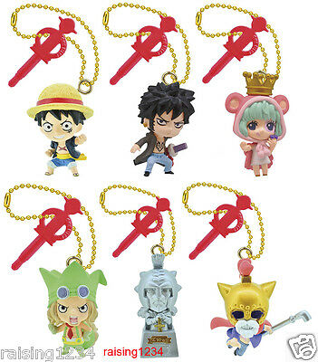 BANDAI One Piece Anime Log Memories Jet Gashapon Figure (Set 6 pcs) Dressrosa