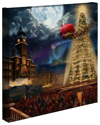 Thomas Kinkade Studios Polar Express 14 x 14 Gallery Wrap Canvas