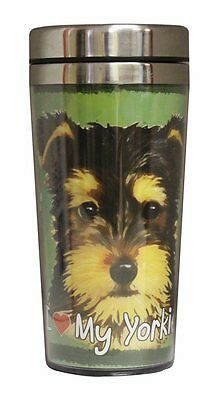 Yorkie Puppy Cut Insulated Tumbler Travel Mug Coffee Tea Thermos Dog
