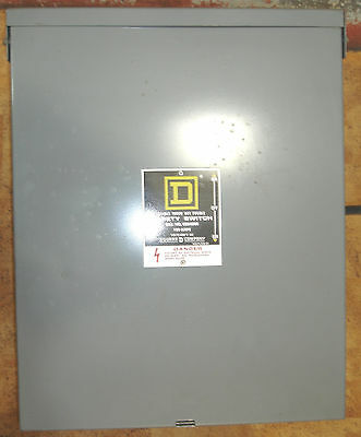 Square D Double Throw Disconnect 100 Amp 600V  N3R/12 82343RB equal to DTU363RB