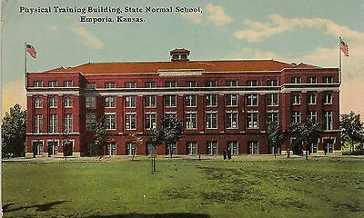 Physical Training Building State Normal School Emporia KS Postcard