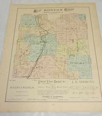 1891 COLOR Plat Map, Summit County, OH//BOSTON TOWNSHIP