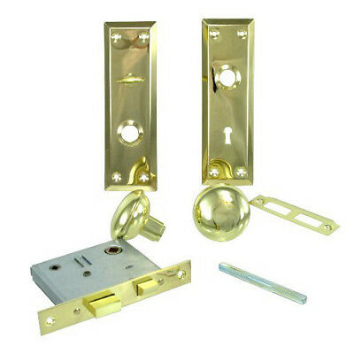 Privacy Brass Plated Inside Mortise Lock