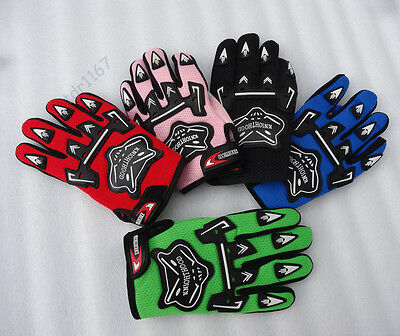 Motorcycle MX Dirt Bike Cycling Racing Gloves Full Finger Kids Child Glove