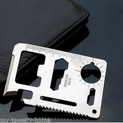 Multi Tools 11in1 Hunting Survival Camping Pocket Military Credit Card Knife BOS
