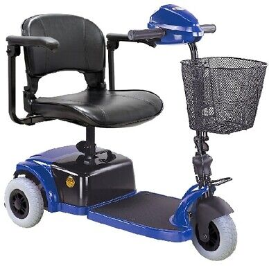 CTM HS-125 3 Wheel Electric 250w Mobility Travel Scooter Cart Foldable seat Blue