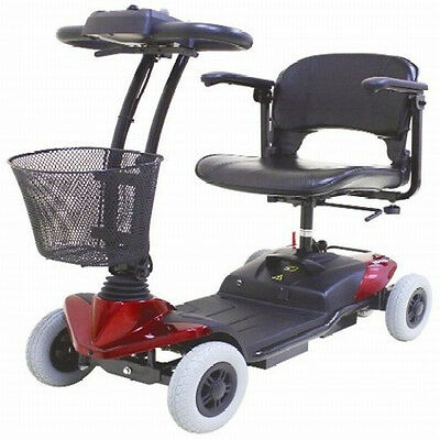 CTM HS-118 4 Wheel Electric 250w Mini Mobility Travel Scooter Foldable Seat Red
