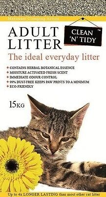 Clean-n-Tidy Adult Litière quotidienne pour chat adulte 15 kg - Clean N NEUF