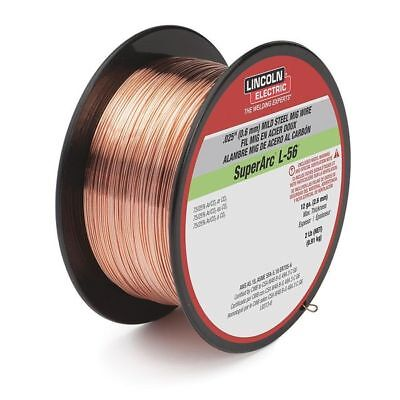 MIG Welding Wire,L-56,.035,Spool LINCOLN ELECTRIC ED030632