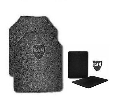 Body Armor | AR500 Steel Plates | Base Frag Coating | Level III | 10x12-6x8 (4)