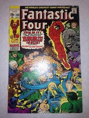 Fantastic Four #100 MAD THiNKER PUPPET MASTER 1970 Fine+ 6.5 1st Series NiCE!
