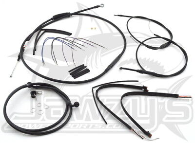 Extended Cable/Brake Line Kit for 16 inch Ape Handlebars Burly B30-1072