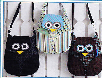 PATTERN - Who's Night Out - cute owl bag/purse PATTERN