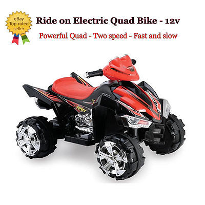 New Predatour Electric Battery Powered Kids Ride on 12v Quad Bike - Black