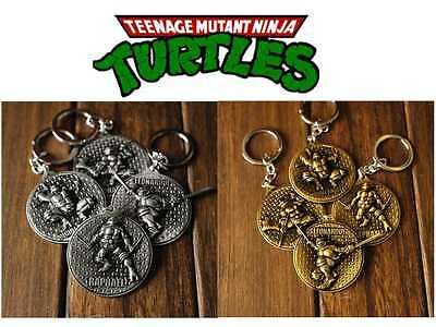 4pcs TEENAGE MUTANT NINJA TURTLES OFFICIAL LICENSED KEYRING/KEY CHAIN SET TK4