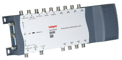 Labgear LDU608G 8-Way TV and Radio Signals Distribution Amplifier Great for Sky