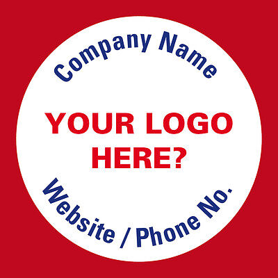 Personalised Business Name Stickers Thank You Seals Your Logo Badge Address 398