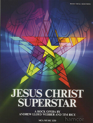 Jesus Christ Superstar Andrew Lloyd Webber Piano Vocal Guitar Sheet Music Book