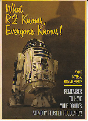 Topps Star Wars Perspectives Rebel Propaganda  What R2 knows, everyone knows! #6