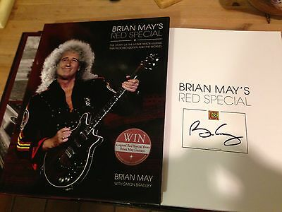 Brian May Queen Signed Book Autograph Coa First Edition May's Red Special