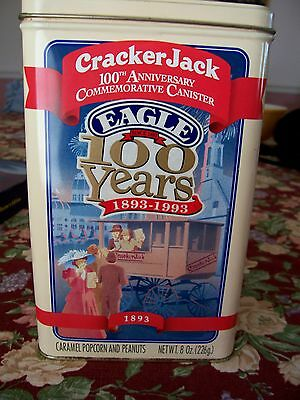 COLLECTIBLE CRACKER JACK TIN CANISTER, 100TH ANNIVERSARY, 1993, USA