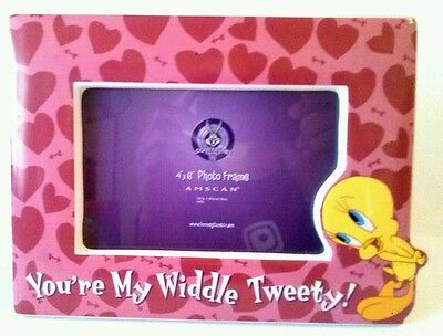 """Looney Toons Ceramic Picture Frame Tweety """" Your My Widdle Tweety """""""