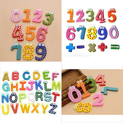 Lovely Cartoon Fridge Magnet Early Education Kid Baby Number/Alphabet Toy Wooden