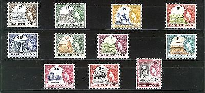 Basutoland 1954 Definitives Sg43/53 Mnh