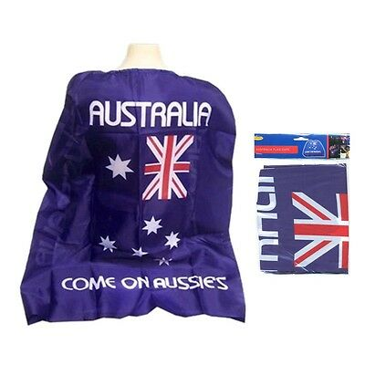 Aussie Australian Flag Cape Wrap Australia Day Costume Fancy Dress