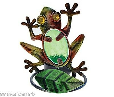 "Frog Metal Tealight Candle Holder Tea Light 3 1/2"" x 4 1/2"" Lake Life Tea Light"