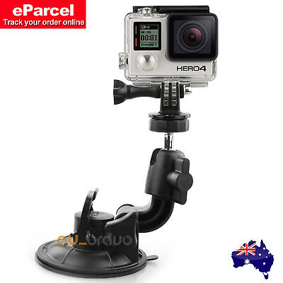 Car Holder Suction Cup With Tripod Mount &Steel Nut for GoPro HD Hero 5 4 3+ 3 2