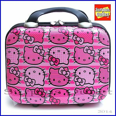 Sanrio Hello Kitty Cosmetic Hard Case Abs Small Hand Carry Luggage Red Ledpard