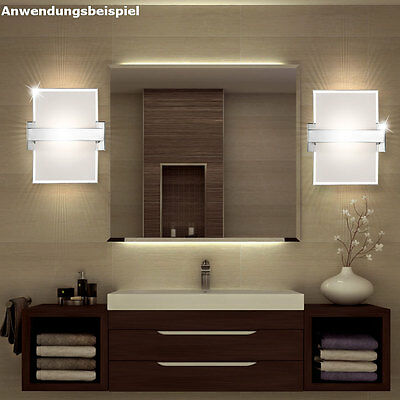 wand leuchte glas chrom acryl kristall flur lampe spiegel beleuchtung esszimmer eur 35 50. Black Bedroom Furniture Sets. Home Design Ideas