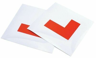 2 Magnetic L Plates Learner Driver Car Bike Weatherproof & Tear Resistant.