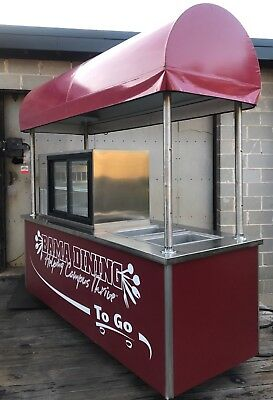 Stainless Steel Commercial Grill /Kiosk/ Food Cart  catering Silverking Cooler