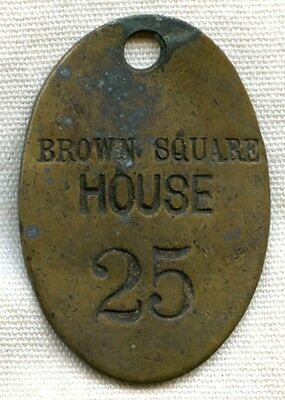 Circa 1890s Inn Key Fob from Historic Brown Square House, Newburyport, Mass.