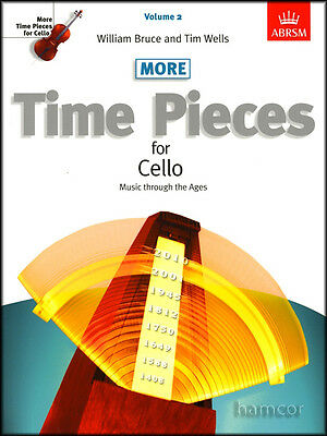 More Time Pieces for Cello Volume 2 ABRSM Classical Sheet Music Book