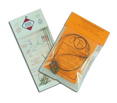Snare Set and Speedhook 3 Pack Thompson Snares SK1 Survival Hunting Fishing Kit