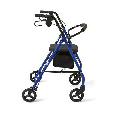 NEW Lightweight Aluminum Cardinal Rollator Foldable Walker with Wheels Soft Seat