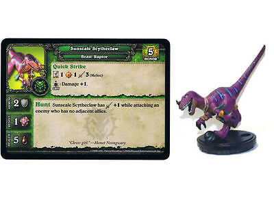 Sunscale Scytheclaw World of Warcraft Miniatures Game Core Set UD Blizzard