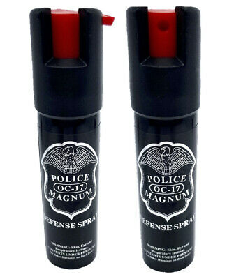 2 Police Magnum mace pepper spray .75oz unit safety lock self defense protection