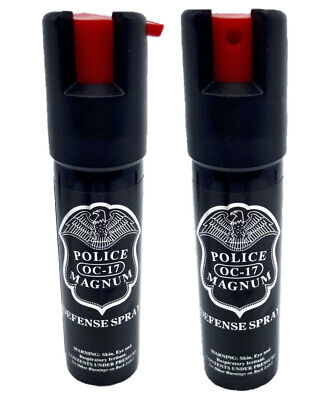 2 Police Magnum pepper spray .75oz unit twist lock self defense protection