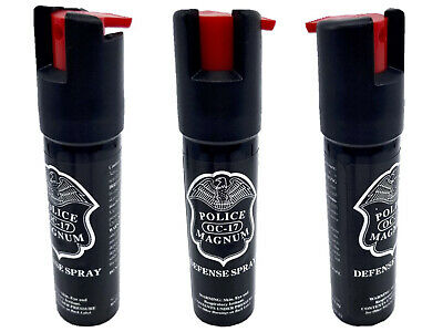 3 Police Magnum mace pepper spray .75oz unit safety lock self defense protection