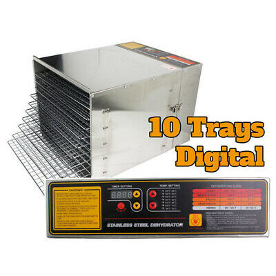 Stainless Steel 1200W 10 Tray Digital Food Dehydrator