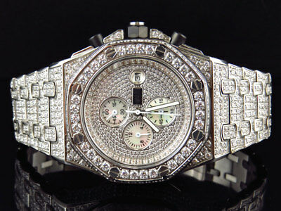 Mens Jewelry Unlimited Jojino White Gold Simulated Lab Diamond Watch AP-01