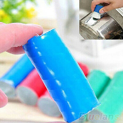2pcs Stainless Steel Rod Magic Stick Metal Rust Remover Cleaning Brush Cleaner