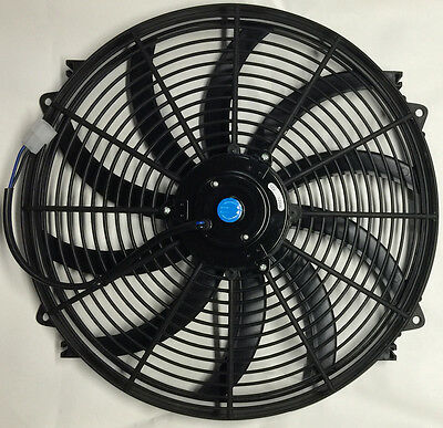 """16"""" Inch Electric Cooling Radiator Fan Curved Hot Rod Procomp Series"""
