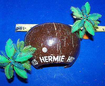 Coco Hermie Hut Hermit Crab Reptile Hide Out With 2 Palm Tree's
