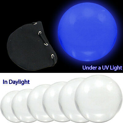 UV Contact Juggling Ball - Clear Acrylic with Choice of Size & Optional Bag