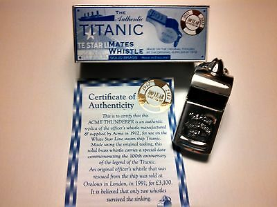 Titanic Mates Whistle Made by ACME England